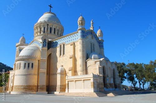 Poster Algerije Basilique Notre Dame d'Afrique, Alger