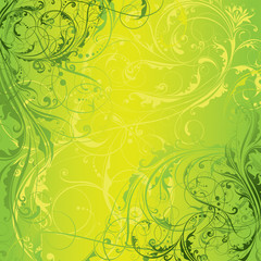Background green floral design