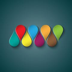 Color drops logo design
