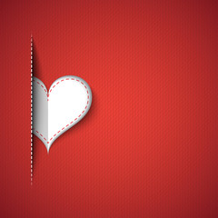 Heart red background