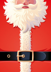 Background of Santa Claus coat with belt