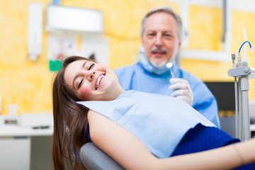 Dentist and a female patient