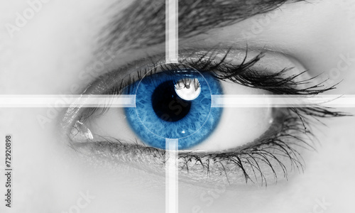 Leinwanddruck Bild Eye close-up
