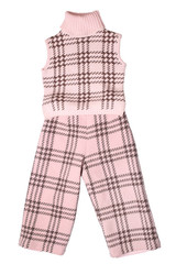 Baby girls trousers and sleeveless pullover