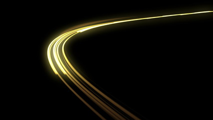 Fast Headlights. 4K. Loop.