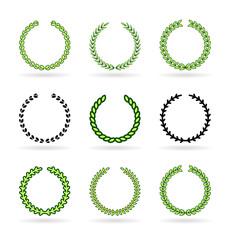 Set of vector wreaths (1)