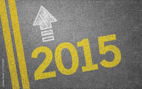 canvas print picture Straße mit 2015