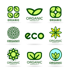 Icons of Organic Products and Ecology. Eco Icons (16)