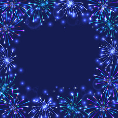 Colorful firework frame