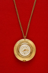 Pocket golden watch with chain