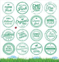 Organic Badges grunge stamp