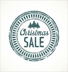Christmas sale grunge stamp