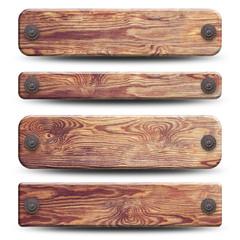 4 plaques de bois rustique