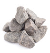 canvas print picture - Pile of multiple granite stones isolated