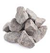 Leinwandbild Motiv Pile of multiple granite stones isolated