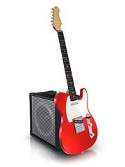 Electric guitar and amplifier.