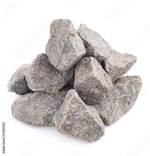 canvas print picture Pile of multiple granite stones isolated
