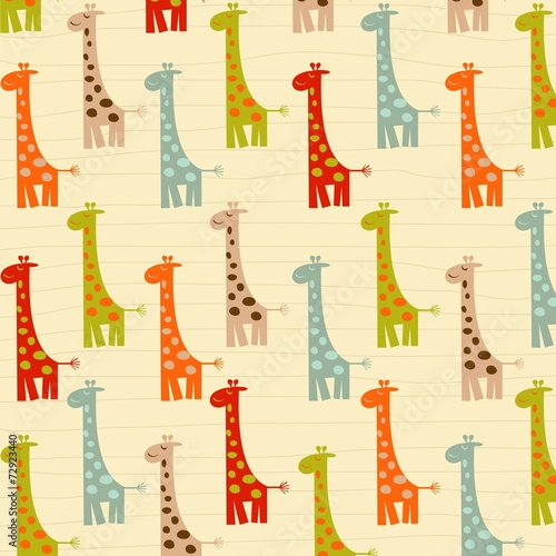 Fototapeta pattern with giraffes