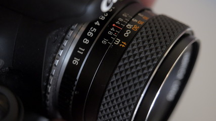 The aperture ring and the focus