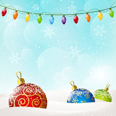 Christmas background with color balls