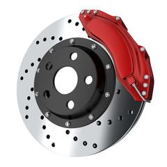 Red brake car