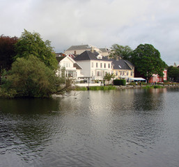 Breiavatnet Lake, located in the heart of Stavanger, Norway