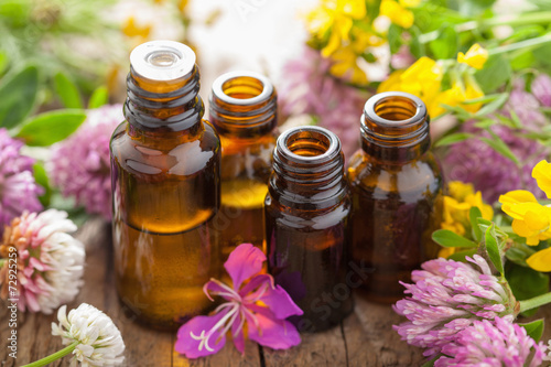 essential oils and medical flowers herbs - 72925259