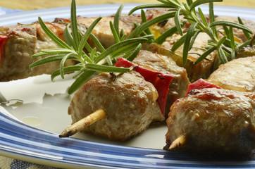 Meat skewers Pinchos de carne Spiedini di Expo Milan 2015