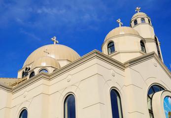 Coptic orthodox church near Toronto city. Canada.