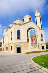 Coptic orthodox church near Toronto city. Canada.