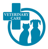 Fototapeta blue medical veterinary sign