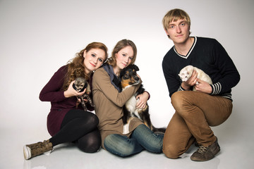Tierliebe Familie