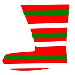 Vector christmas sock