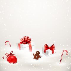Verschneite Weihnachtsgeshenke