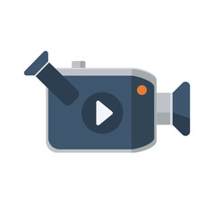 Video camera flat icon, vector icon