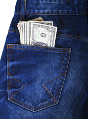 Money in the pocket - Stock Image