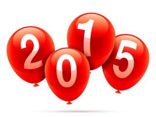 2015 New year baloons.