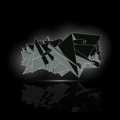 Modern Acute Triangular Black Premium Logo In Grey Light