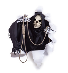 Grim Reaper offers executioner noose