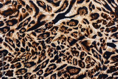 Tuinposter Panter texture of print fabric striped leopard