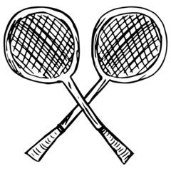 rackets, badminton