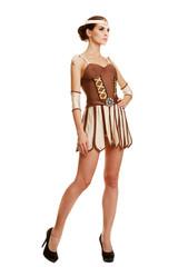 Beautiful girl in the national costume. Greek Goddess.