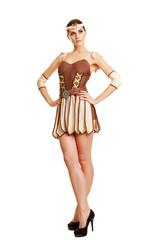 Beautiful girl in the national costume. Greek Goddess