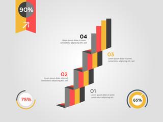 Modern abstract infographics
