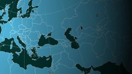 Animated Earth Globe