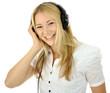 Twen hört Musik über Kopfhörer