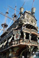 Detail of Il Galeone Neptune ship, Genoa