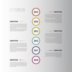 Flat colorful abstract timeline infographics vector. White