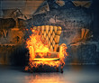 burning armchair - 72932274