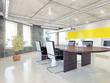 modern office interior. 3d concept